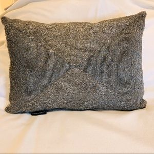 Cynthia Rowley beaded and silver throw pillow
